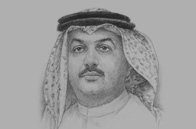 Sketch of Khalid bin Mohammed Al Attiyah, Minister of Foreign Affairs