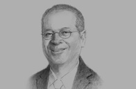 Sketch of Ramon Ang, President and COO, Philippine Airlines