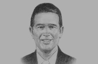 Sketch of Raúl Alemán, General Manager, Banco General