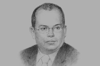 Sketch of Luis Miguel Castilla Rubio, Minister of Economy and Finance