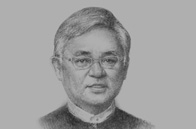 Sketch of Serge Pun, Chairman, Serge Pun & Associates (Myanmar)