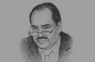Sketch of Mohammed Laksaci, Governor, Bank of Algeria