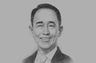 Sketch of  Kan Trakulhoon, President and CEO, SCG