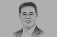 Sketch of Apichart Chutrakul, CEO, Sansiri