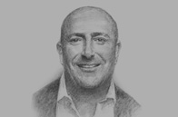 Sketch of Tim Shields, President Director, ACE Jaya Proteksi