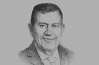 Sketch of Ziad Fariz, Governor, Central Bank of Jordan (CBJ)