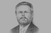 Sketch of Rob Davies, Minister of Trade and Industry