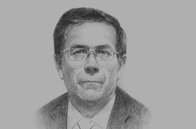 Sketch of Eduardo Amorrortu, President, Association of Exporters (ADEX)