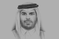 Sketch of Sheikh Abdul Rahman bin Khalifa Al Thani, Minister of Municipality & Urban Planning