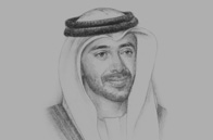 Sketch of Sheikh Abdullah bin Zayed Al Nahyan, UAE Minister of Foreign Affairs