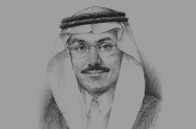 Sketch of Muhammad Al Jasser, Minister of Economy and Planning