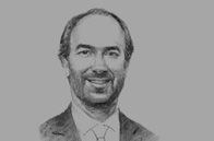 Sketch of Juan Pablo Rivera, President, Bogotá Free Trade Zone