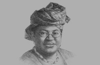 Sketch of Enase Okonedo, Dean, Lagos Business School, and Chairperson, Association of African Business Schools (AABS), on tertiary education
