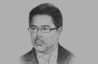 Sketch of Guillermo Luz, Co-Chairman, Private Sector, National Competitiveness Council (NCC)