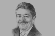 Sketch of Luiz Inácio Lula da Silva, Former President of Brazil and Honorary President, Lula Institute