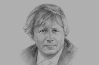 Sketch of Boris Johnson, Mayor of London