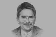 Sketch of Jean-Marie Guillermou, Senior Vice-President Asia Pacific, Total Exploration & Production