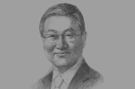 Sketch of  Kim Sung-Hwan, Korean Minister of Foreign Affairs and Trade