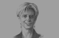Sketch of Christine Lagarde, Managing Director, IMF