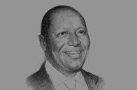 Sketch of Daniel Kablan Duncan, Prime Minister and Minister of Economy and Finance