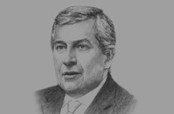 Sketch of Richard Attias, Executive Chairman, Richard Attias & Associates; and Founder, New York Forum Africa