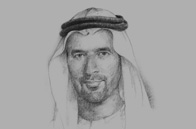 Sketch of Nasser Alsowaidi, Former Chairman, Abu Dhabi Department of Economic Development