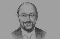 Sketch of Martin Schulz, President, European Parliament