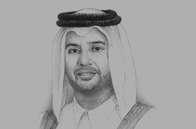 Sketch of Sheikh Ahmed bin Jassim bin Mohamed Al Thani, Minister of Economy and Commerce