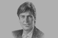 Sketch of Peter Baltussen, CEO, Commercial Bank of Dubai