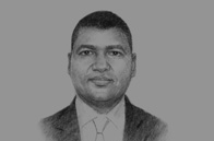 Sketch of Jean-Louis Billon, Minister of Commerce, Craft and Small and Medium-Sized Enterprise (SME) Promotion