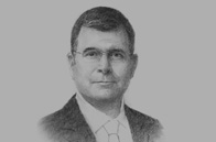 Sketch of tephen P Groff, Vice-President for East Asia, South-east Asia and the Pacific, Asian Development Bank (ADB)