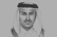 Sketch of Ali Shareef Al Emadi, Minister of Finance