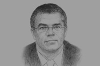 Sketch of  Alexander Medvedev, Director-General, Gazprom Export