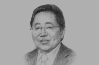 Sketch of President Ts. Elbegdorj