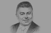 Sketch of Osama Saleh, Minister of Investment, and Chairman, General Authority for Investment and Free Zones (GAFI)