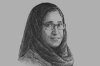 Sketch of Hessa Sultan Al Jaber, Minister of Information & Communications Technology