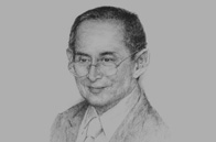 Sketch of His Majesty Bhumibol Adulyadej, King of Thailand