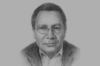 Sketch of  Loi M Bakani, Governor, Bank of Papua New Guinea