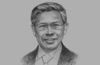 Sketch of Mustapa Mohamed, Minister of International Trade and Industry (MITI)