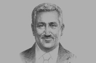 Sketch of Abdullah Ensour, Prime Minister of Jordan