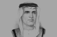Sketch of Sheikh Saud bin Saqr Al Qasimi, Ruler of Ras Al Khaimah