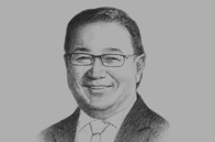 Sketch of Manuel Pangilinan, Chairman, Philippine Long Distance Telephone Company (PLDT)