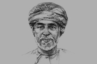 Sketch of Sultan Qaboos bin Said Al Said