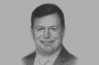 Sketch of  Ross Cormack, CEO, Ooredoo Myanmar