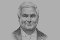 Sketch of President Ricardo Alberto Martinelli Berrocal