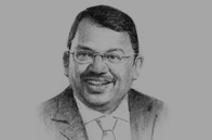 Sketch of  Sunny Verghese, Group Managing Director and CEO, Olam International