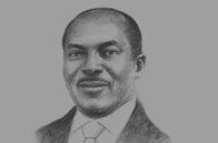 Sketch of Henri-Claude Oyima, Director and Chairman, BGFI Bank