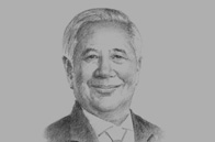 Sketch of Oscar Reyes, President and CEO, Manila Electric Company (Meralco)
