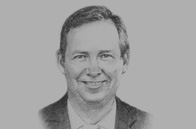 Sketch of  Frank De Lima, Minister of Economy and Finance