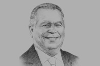 Sketch of Leopoldo Benedetti, General Manager, Colón Free Trade Zone